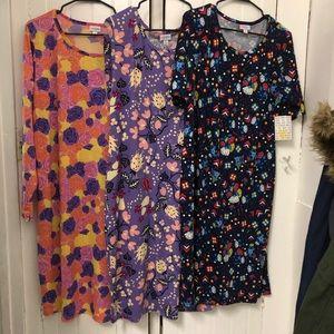 Lot of 3 LulaRoe Plus Dresses!